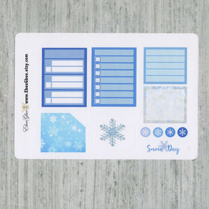 SNOW DAY MONTHLY  Layout Planner Stickers | You Pick Your Month | Periwinkle