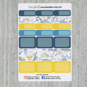 LITTLE BIRD DELUXE Weekly Planner Sticker Set | Midnight Teal Lemon