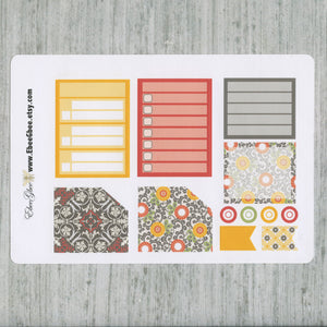 TUSCAN HOLIDAY MONTHLY Layout Planner Stickers | You Pick Your Month | Gold Lime