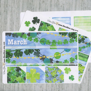 LUCKY MONTHLY Layout Planner Stickers | You Pick Your Month | Frog Periwinkle