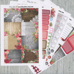 A LA CART Shabby Chic Weekly Planner Sticker Sheets | Rose Gold Storm