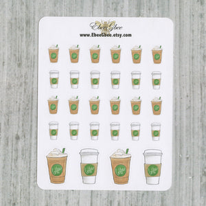 COFFEE Planner Stickers | Hand Drawn