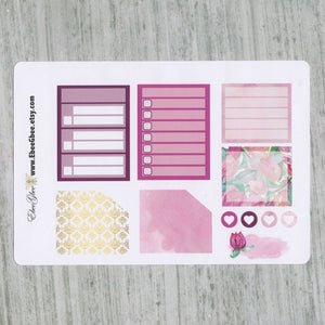 BOUGAINVILLEA MONTHLY  Layout Planner Stickers  | You Pick Your Month | Bougainvillea Pine
