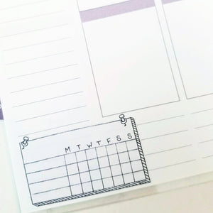 WEEKLY TRACKER BOX Planner Stickers | Hand Drawn BuJo Style