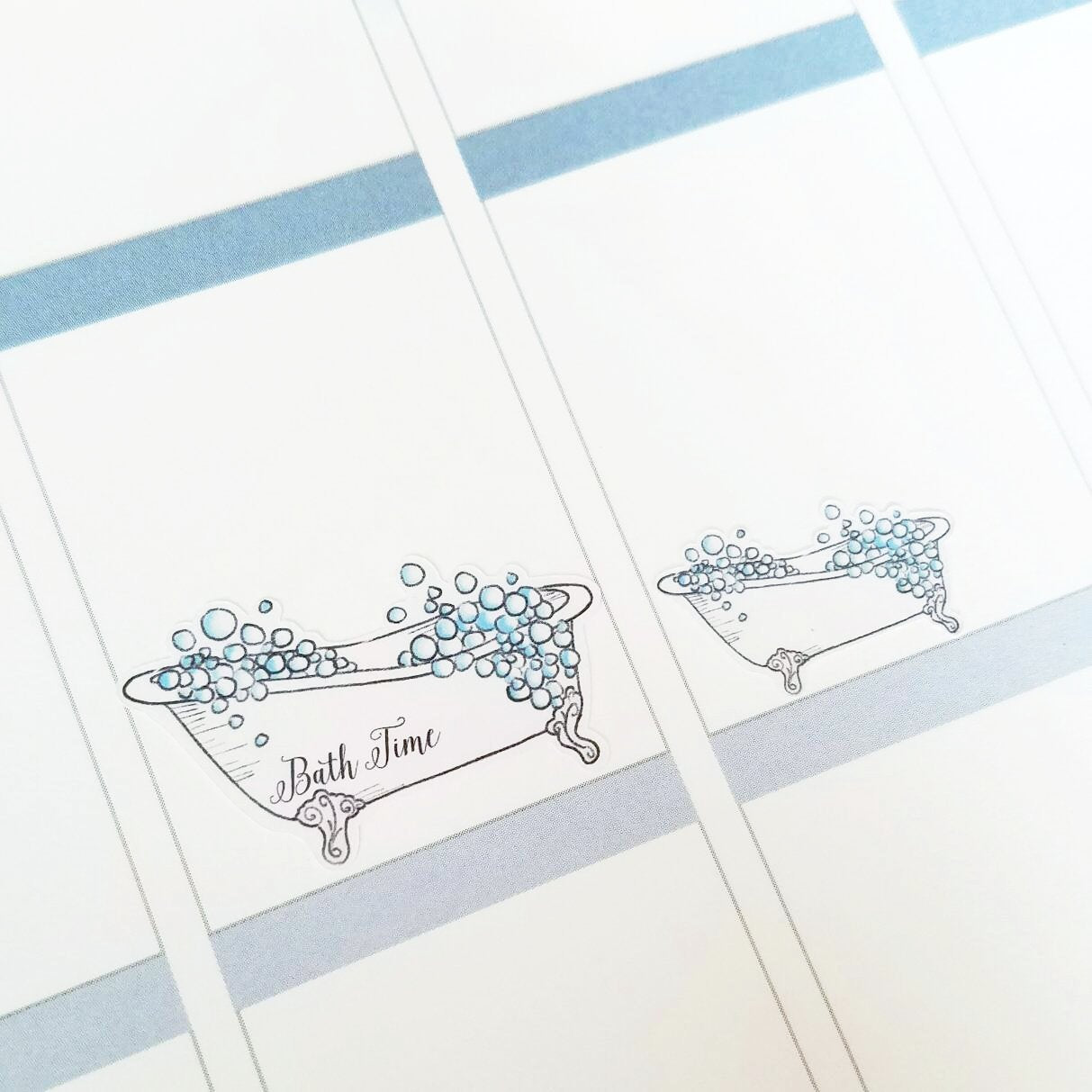 BUBBLE BATH Planner Stickers | Hand Drawn