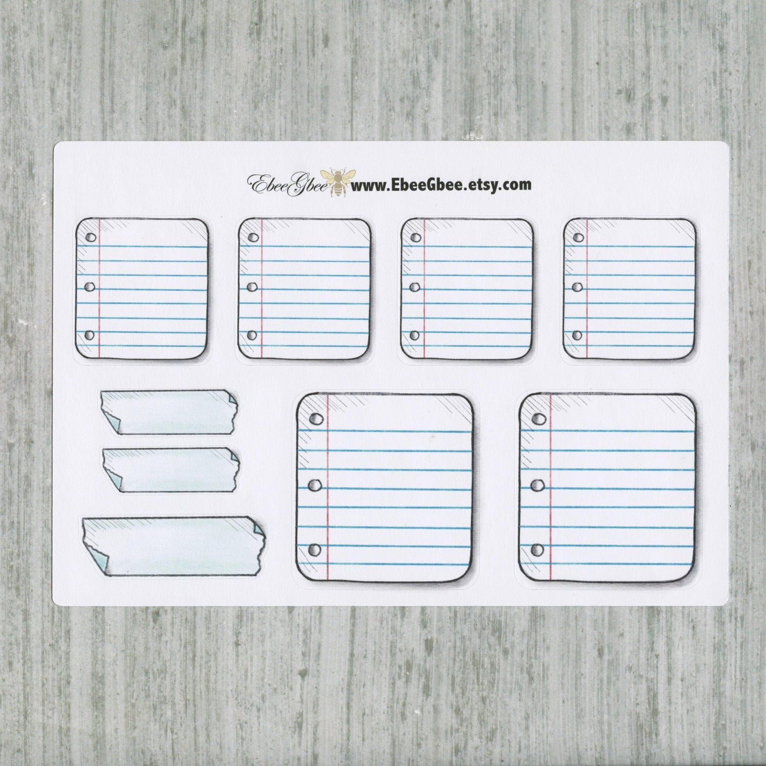 NOTE BOX Stickers Planner Stickers | Hand Drawn Bullet Journal (BuJo) Style