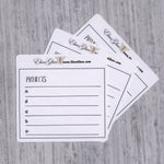 PROJECTS set of 3 Hand Drawn Large Box Note Page Planner Stickers