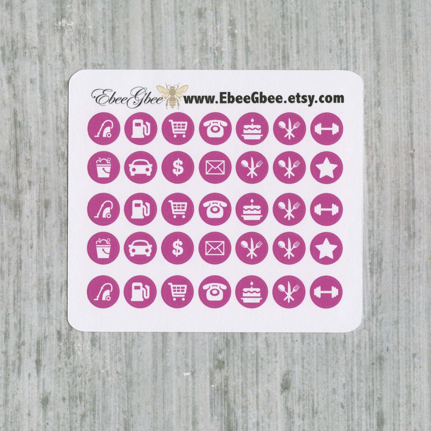 Bougainvillea Icon Dots Planner Stickers