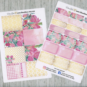 BOUGAINVILLEA DELUXE Weekly Planner Sticker Set | Bougainvillea Pine