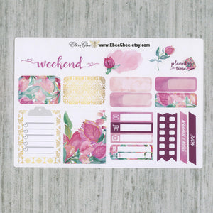 BOUGAINVILLEA SAMPLER Weekly Planner Sticker Set | Bougainvillea Pine