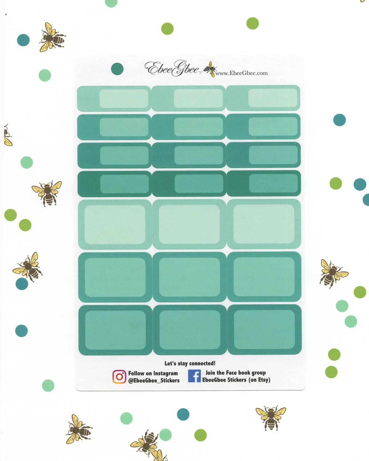 PINE COLORFUL BOXES Planner Stickers | BeeColorful