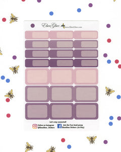 PLUM COLORFUL BOXES  Planner Stickers | BeeColorful