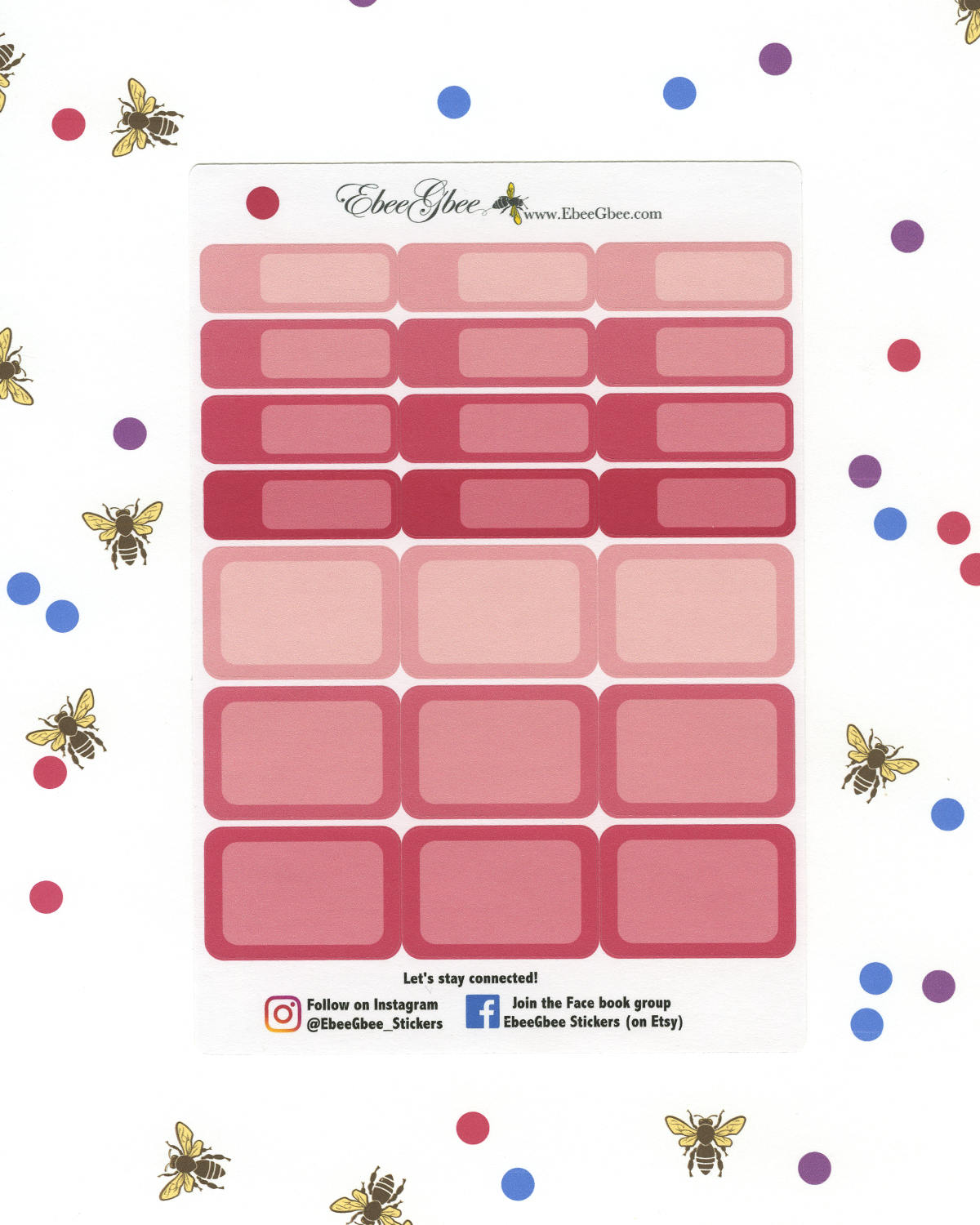 ROSE COLORFUL BOXES Planner Stickers | BeeColorful