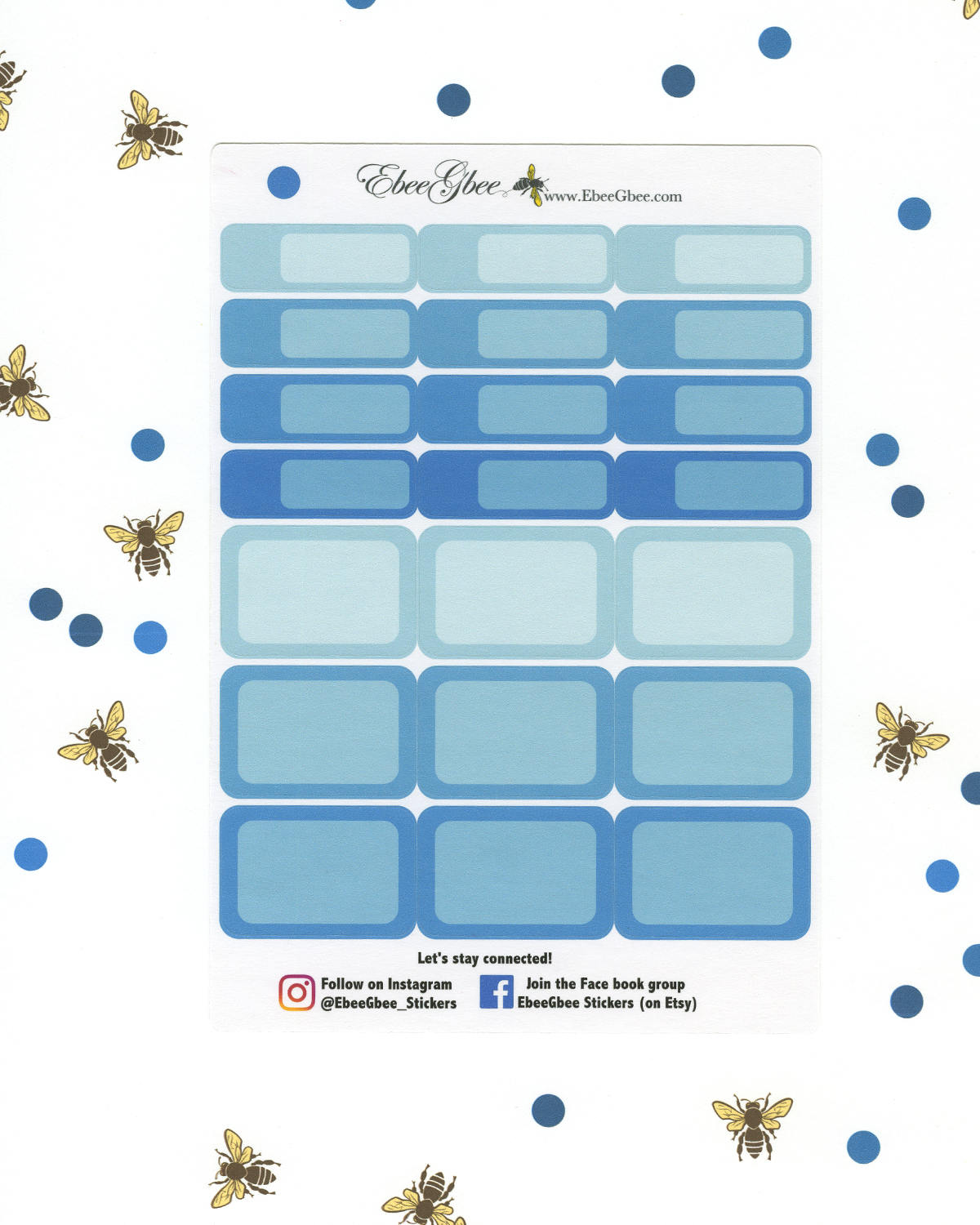 SKY COLORFUL BOXES Planner Stickers | BeeColorful