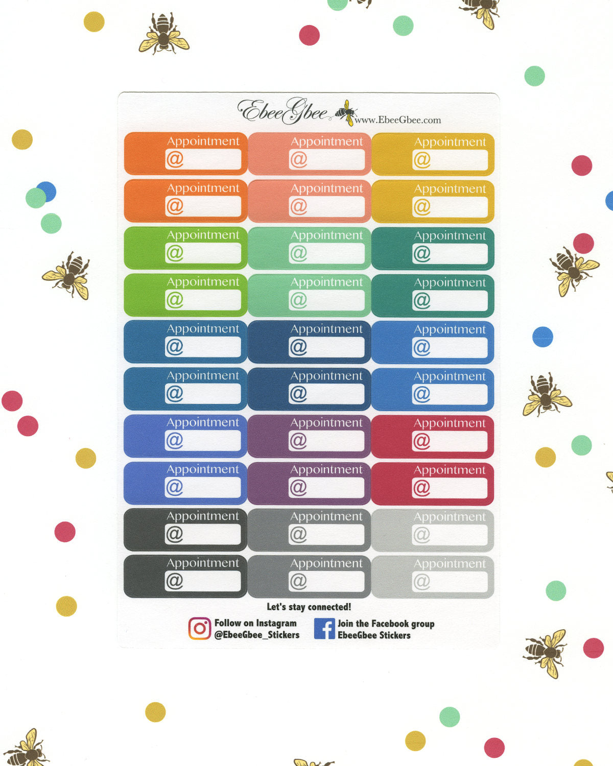 APPOINTMENT Planner Stickers | BeeColorful