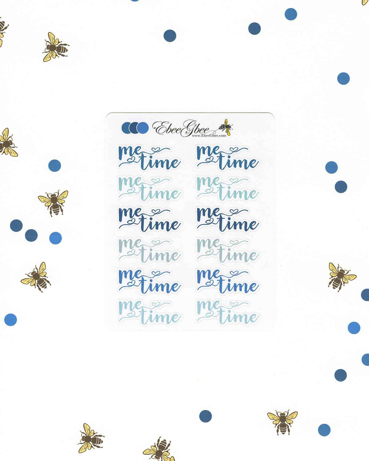 BLUES ME TIME Planner Stickers |  BeeColorful Teal Midnight Sky