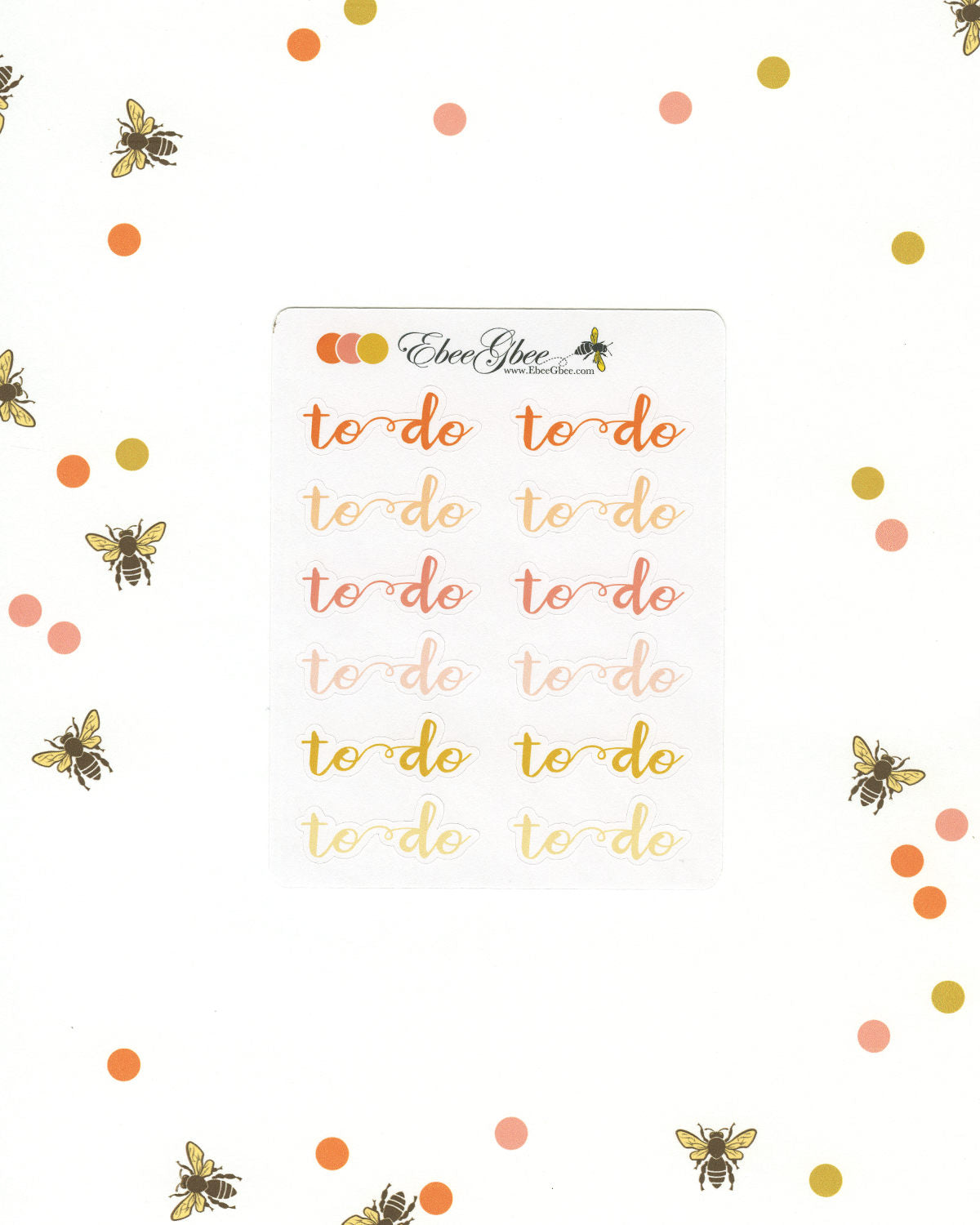 TO DO Planner Stickers |  BeeColorful
