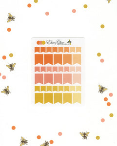 ORANGES FLAGS Planner Stickers | BeeColorful Sunset Peach Gold