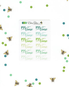 GREENS ME TIME Planner Stickers |  BeeColorful Mint Lime Pine