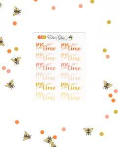 ORANGES ME TIME Planner Stickers |  BeeColorful Sunset Peach Gold