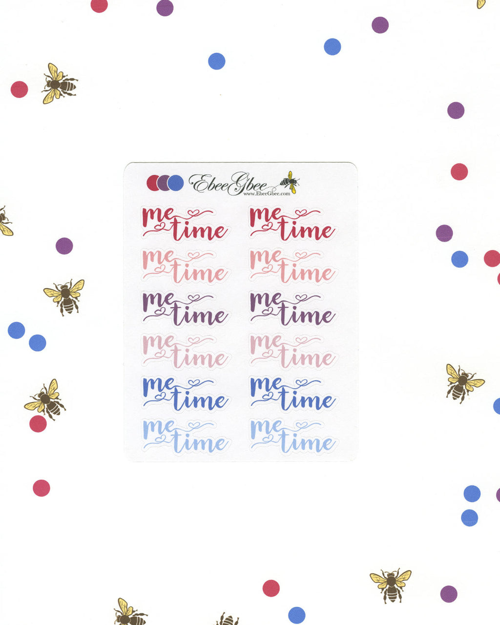 ME TIME Planner Stickers |  BeeColorful