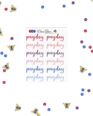 PAYDAY Planner Stickers |  BeeColorful
