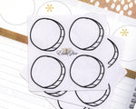 BLANK CIRCLE Hand Draw Note Page Planner Stickers