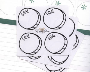 GOAL CIRCLE Hand Draw Note Page Planner Stickers