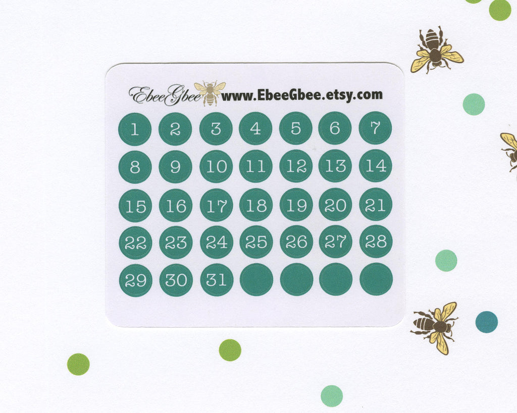 PINE DATE DOT Monthly Planner Stickers | BeeColorful