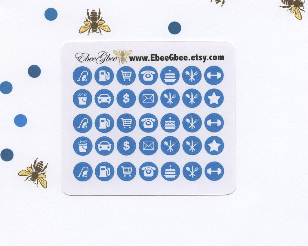 SKY ICON DOTS Planner Stickers | BeeColorful