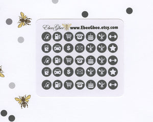 STORM ICON DOTS Planner Stickers | BeeColorful