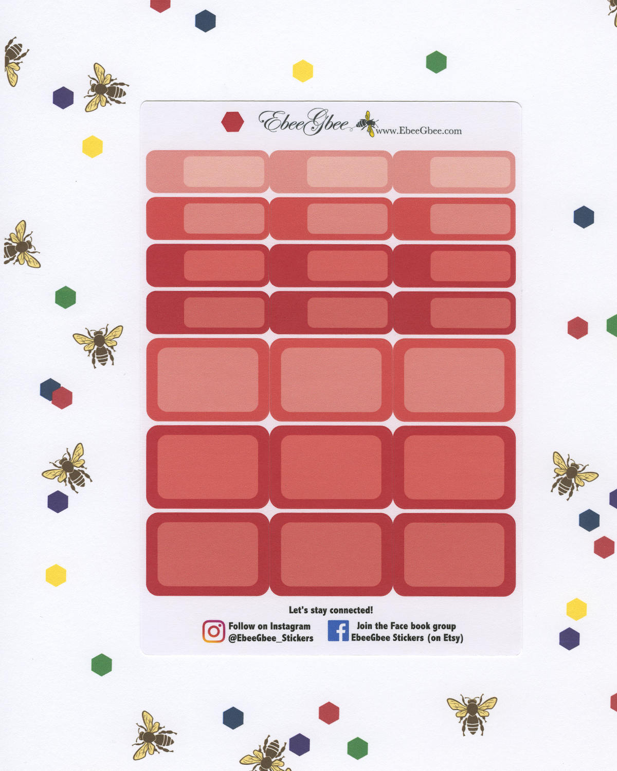 CHERRY COLORFUL BOXES Planner Stickers | BeeBright