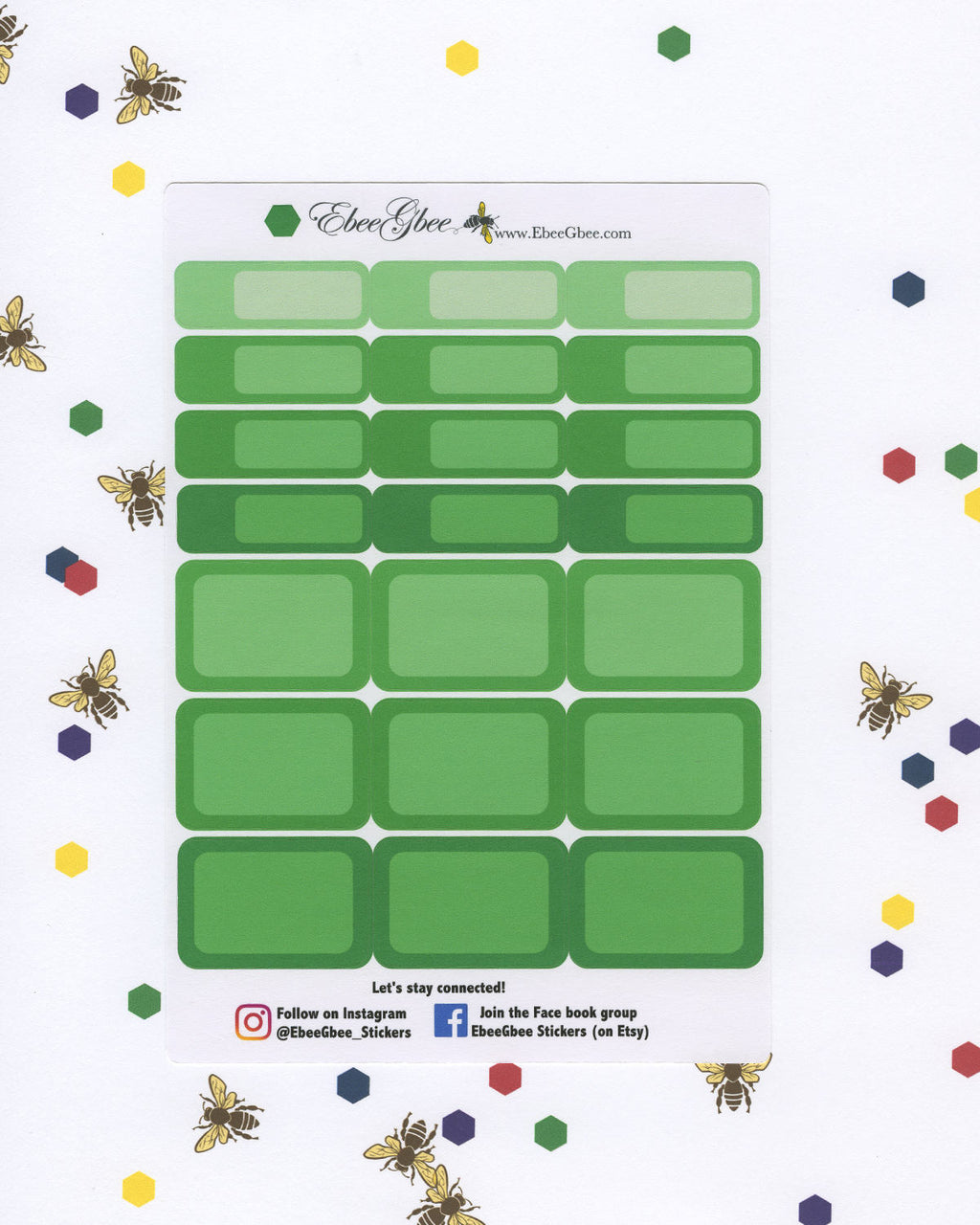 FROG COLORFUL BOXES Planner Stickers | BeeBright