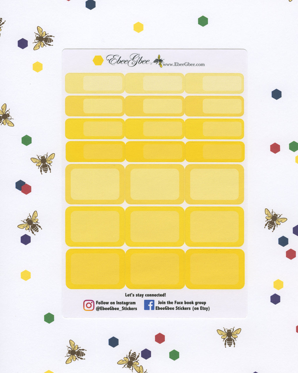 LEMON COLORFUL BOXES Planner Stickers | BeeBright