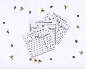 BILLS set of 3 Hand Drawn Large Box Note Page Planner Stickers