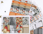 A LA CART Butterfly Weekly Planner Sticker Sheets | Sunset Storm Gold