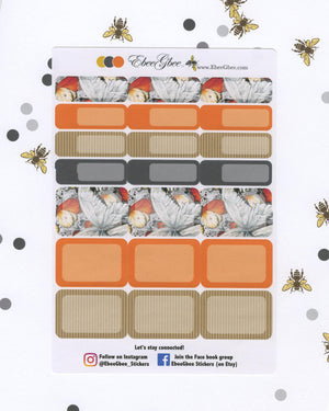 BUTTERFLY WEEKLY Planner Sticker Set | Sunset Storm Gold