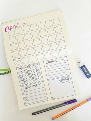 PRIORITIES set of 3 Hand Drawn Large Box Note Page Planner Stickers