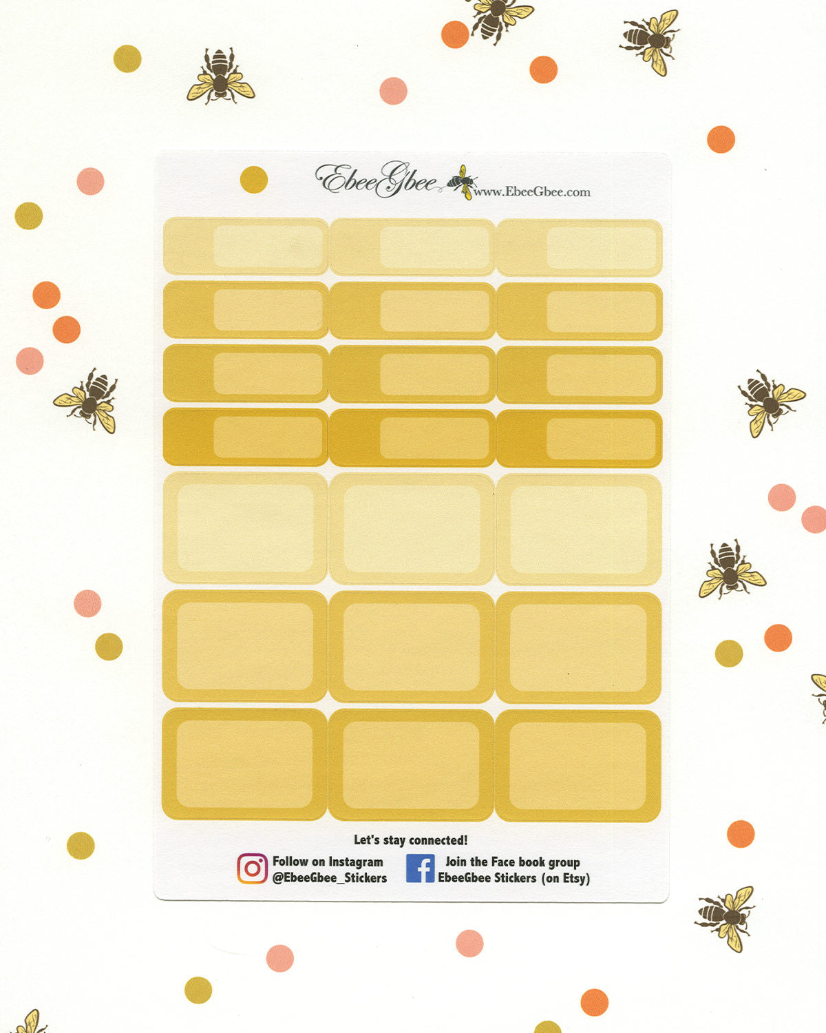 GOLD COLORFUL BOXES Planner Stickers | BeeColorful