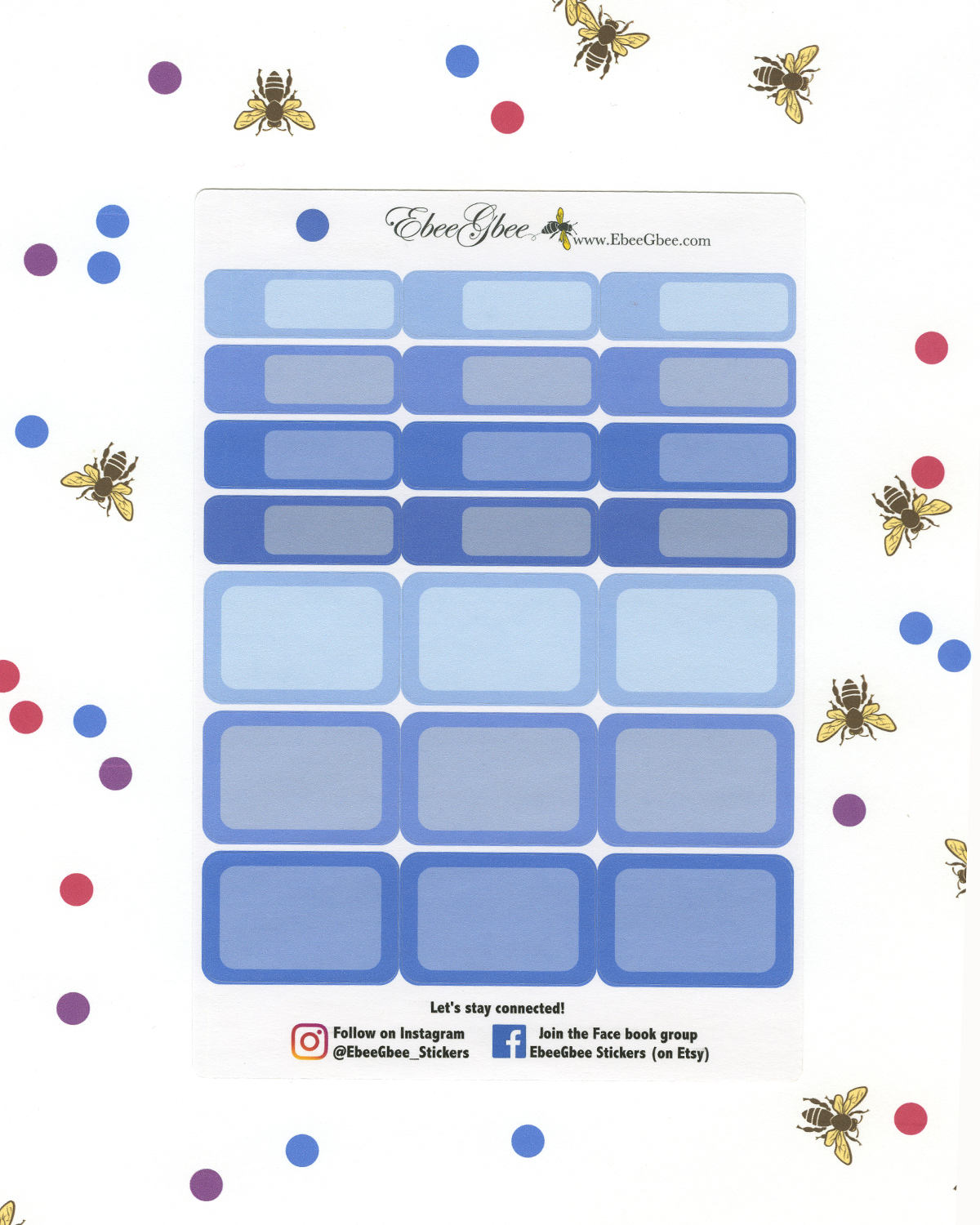 PERIWINKLE COLORFUL BOXES Planner Stickers | BeeColorful