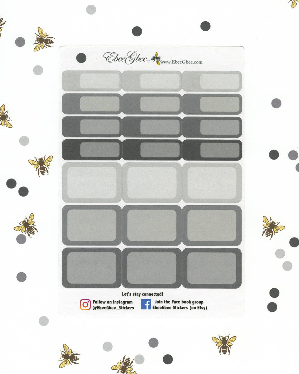 STORM COLORFUL BOXES Planner Stickers | BeeColorful
