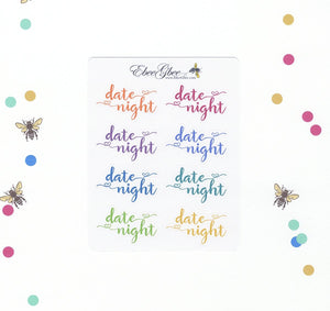 DATE NIGHT Planner Stickers | BeeColorful