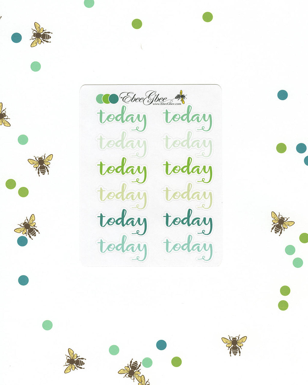 TODAY Planner Stickers |  BeeColorful