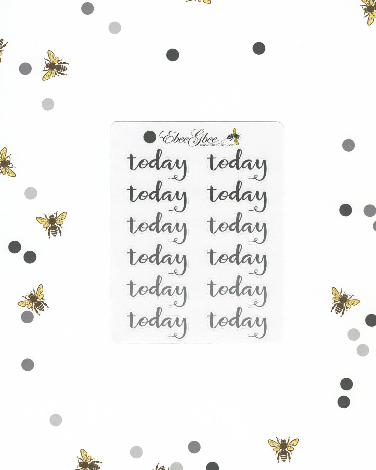 STORM TODAY Planner Stickers |  BeeColorful
