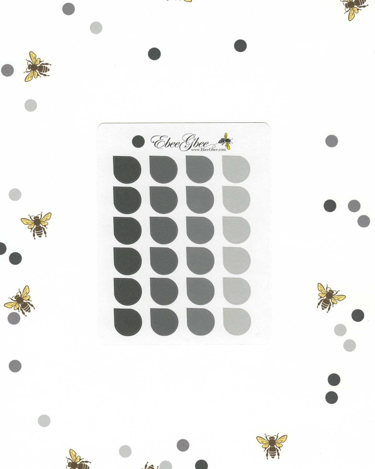 STORM TEARDROP Planner Stickers |  BeeColorful