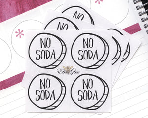 NO SODA CIRCLE Hand Draw Note Page Planner Stickers