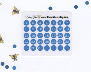 SKY DATE DOT Monthly Planner Stickers | BeeColorful