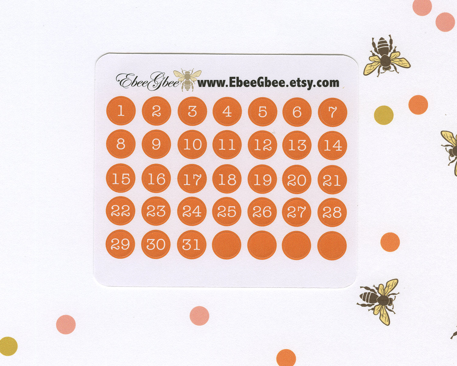 SUNSET DATE DOT Monthly Planner Stickers | BeeColorful