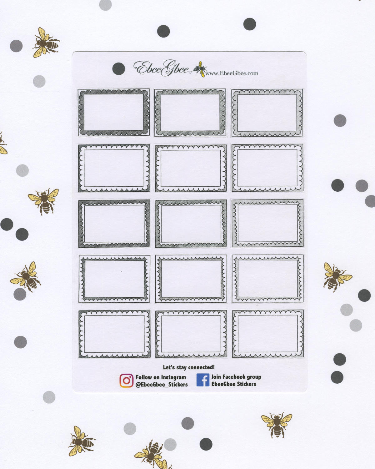STORM DOODLE BOXES Planner Stickers | BeeColorful