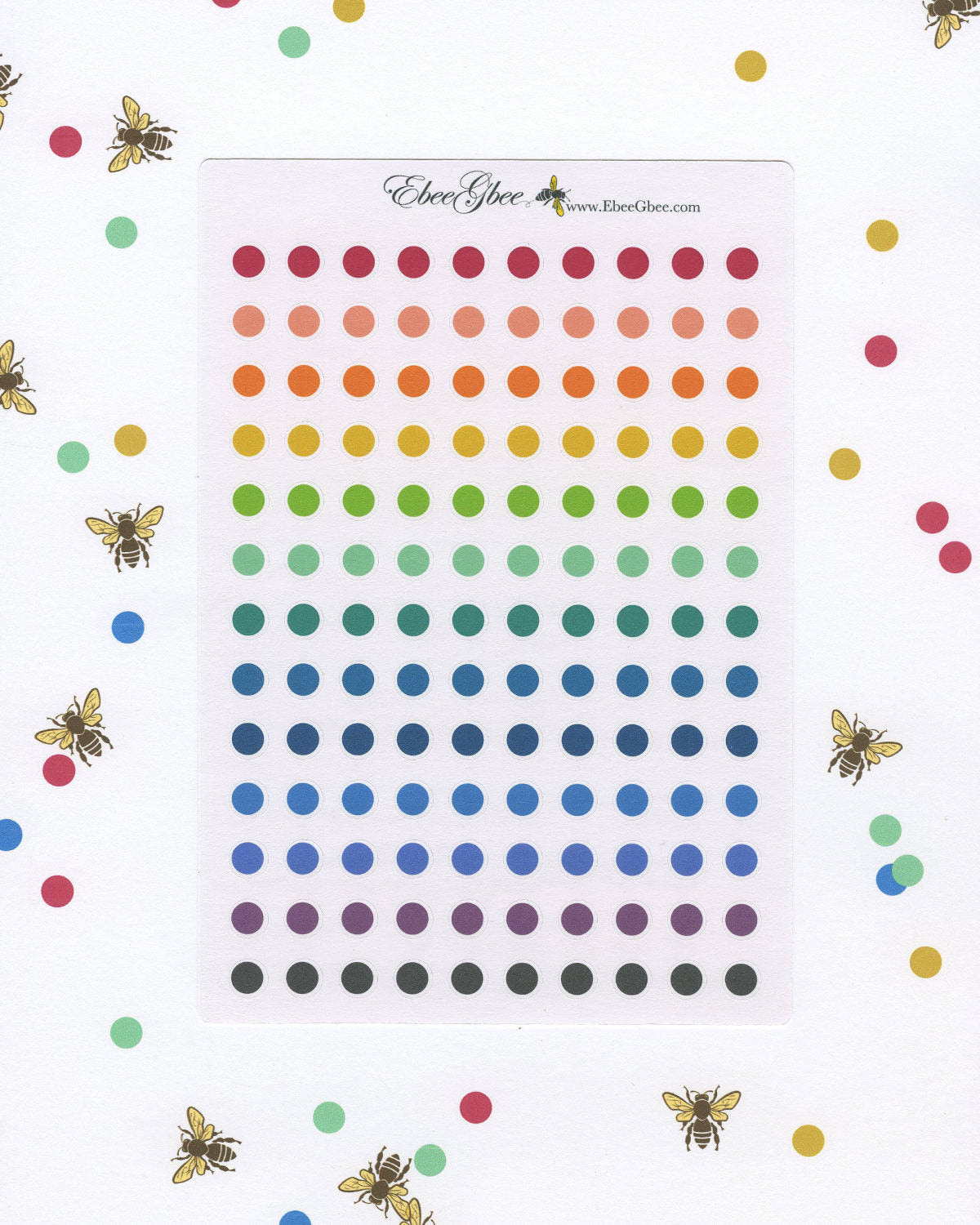 TINY DOTS Planner Stickers | BeeColorful